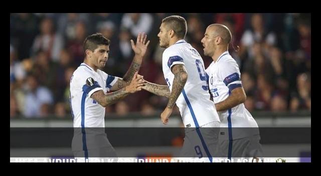 UEFA Avrupa Ligi K Grubu'nda Inter, deplasmanda Sparta Prag'a 3-1 yenildi