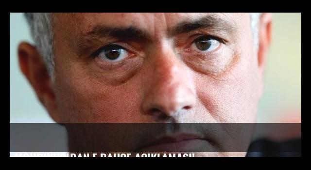 Mourinho'dan F.Bahçe açıklaması!