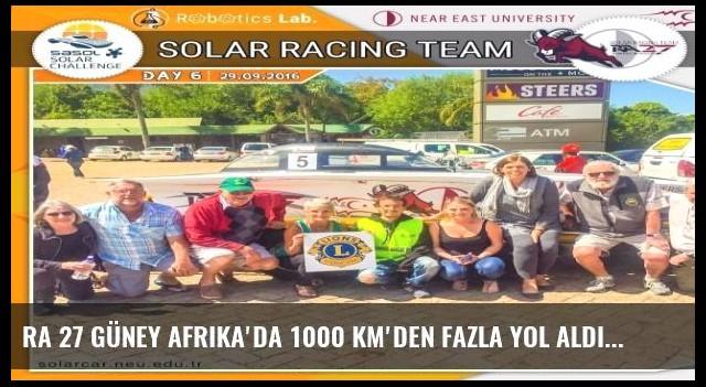 Ra 27 Güney Afrika'da 1000 Km'den Fazla Yol Aldı