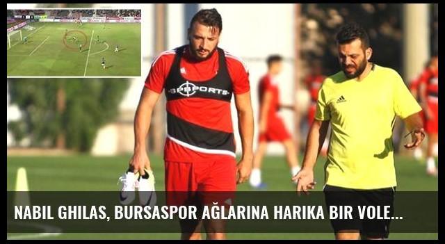 Nabil Ghilas, Bursaspor Ağlarına Harika Bir Vole Golü Attı