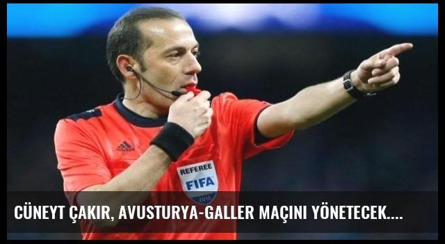 Cüneyt Çakır, Avusturya-Galler maçını yönetecek...