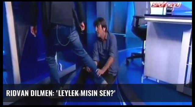 Rıdvan Dilmen: 'Leylek misin sen?'