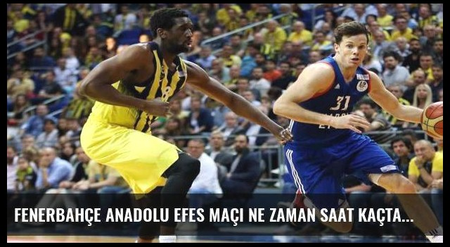 Fenerbahçe Anadolu Efes maçı ne zaman saat kaçta hangi kanalda? Cumhurbaşkanlığı Kupası