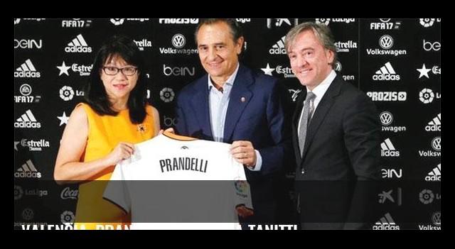 Valencia, Prandelli'yi basına tanıttı