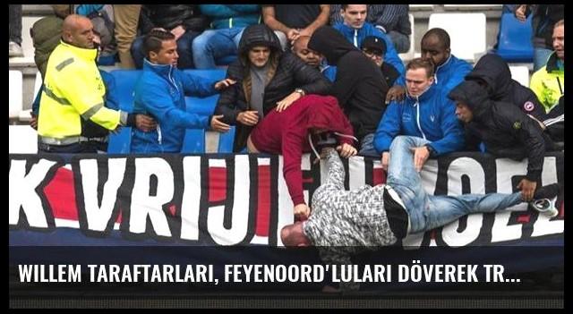 Willem Taraftarları, Feyenoord'luları Döverek Tribünden Attı