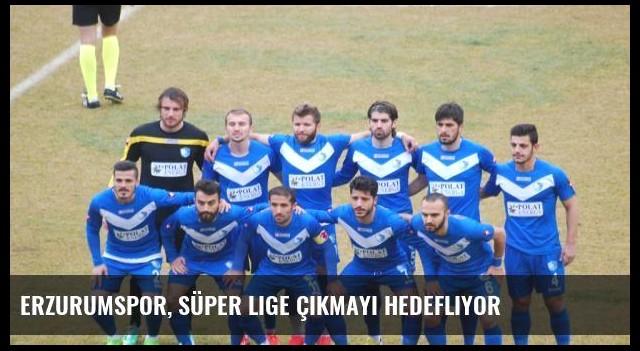 Erzurumspor, Süper Lige Çıkmayı Hedefliyor
