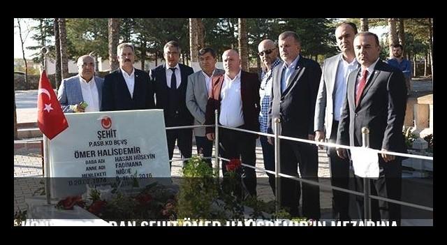 Konyaspor'dan şehit Ömer Halisdemir'in mezarına ziyaret