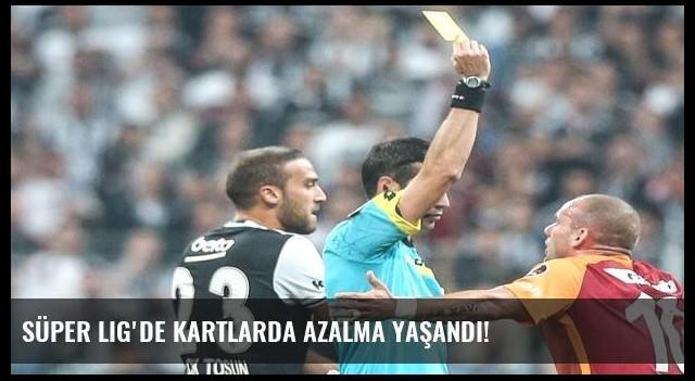Süper Lig'de kartlarda azalma yaşandı!