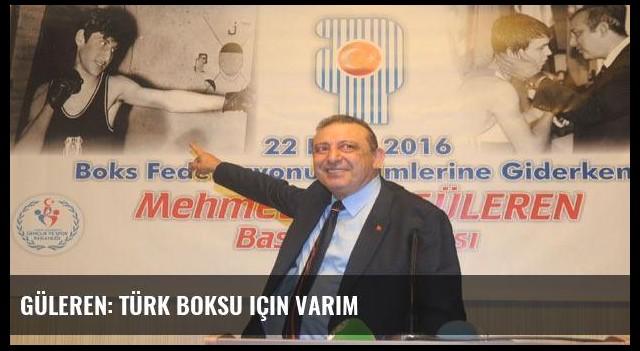 Güleren: Türk Boksu için varım
