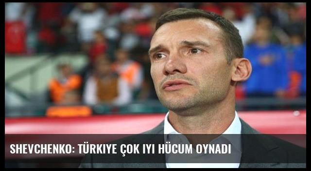 Shevchenko: Türkiye çok iyi hücum oynadı