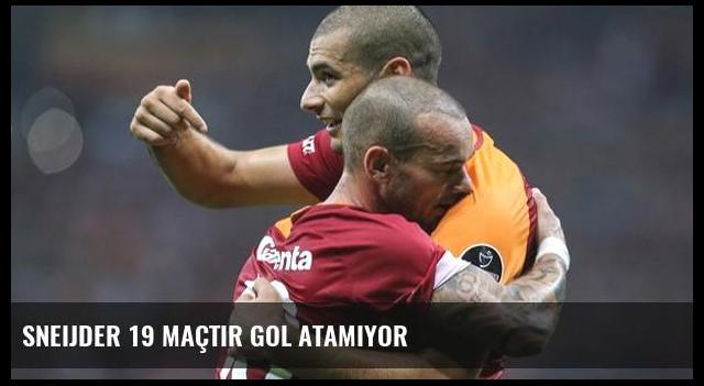 Sneijder 19 Maçtır Gol Atamıyor