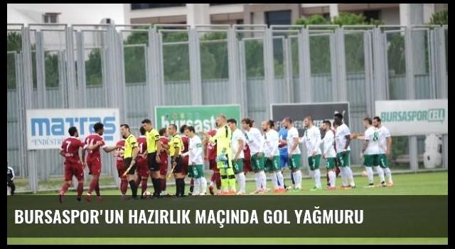 Bursaspor'un Hazırlık Maçında Gol Yağmuru
