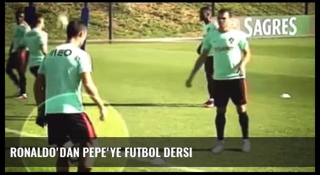 Ronaldo'dan Pepe'ye futbol dersi