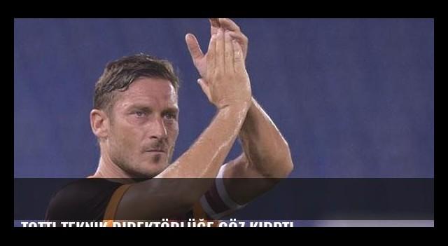 Totti teknik direktörlüğe göz kırptı
