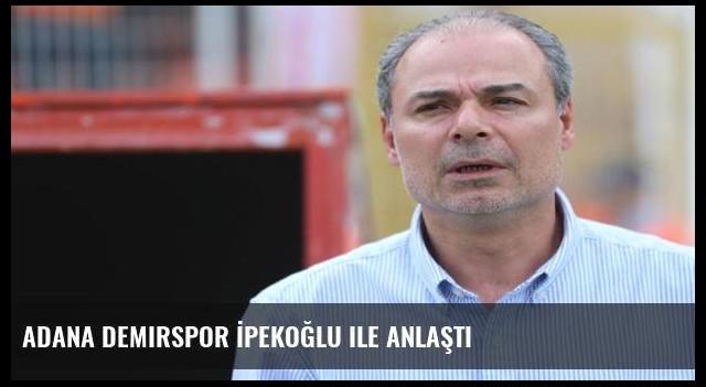 Adana Demirspor İpekoğlu ile anlaştı