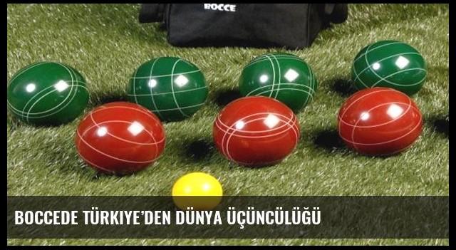 Boccede Türkiye'den dünya üçüncülüğü