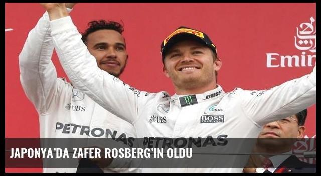 Japonya'da zafer Rosberg'in oldu
