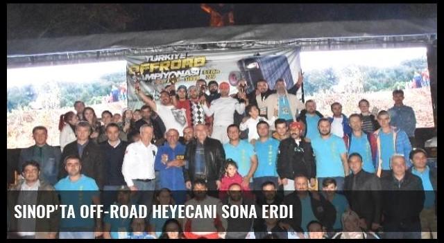 Sinop'ta Off-Road Heyecanı Sona Erdi