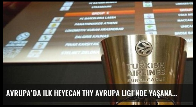 Avrupa'da ilk heyecan THY Avrupa Ligi'nde yaşanacak