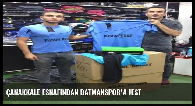Çanakkale Esnafından Batmanspor'a Jest