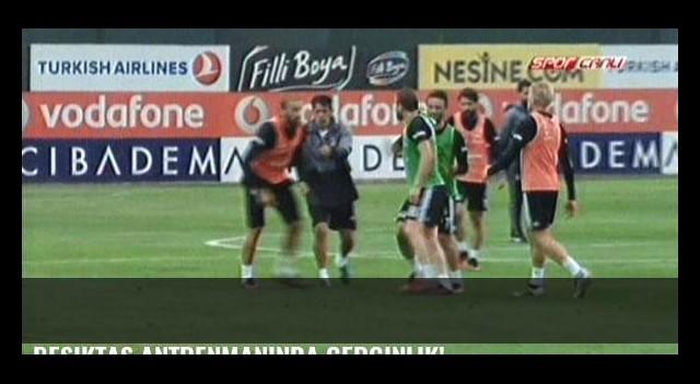 Beşiktaş antrenmanında gerginlik!