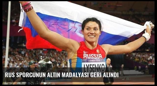 Rus sporcunun altın madalyası geri alındı