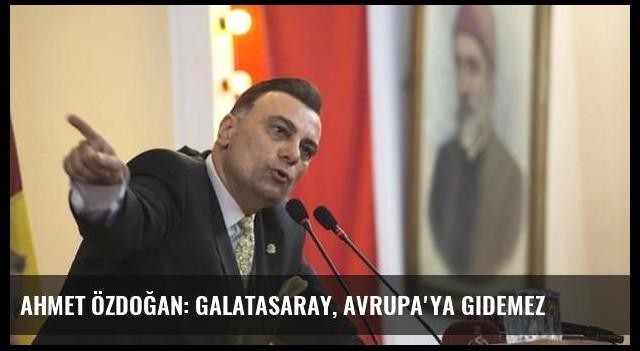 Ahmet Özdoğan: Galatasaray, Avrupa'ya gidemez