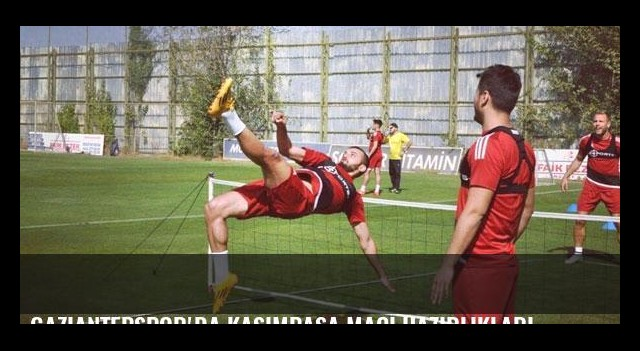 Gaziantepspor'da Kasımpaşa maçı hazırlıkları