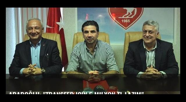 Araboğlu: 'Transfer için 5 milyon TL lazım'