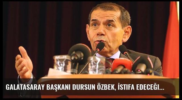 Galatasaray Başkanı Dursun Özbek, İstifa Edeceği Yönündeki Haberleri Yalanladı