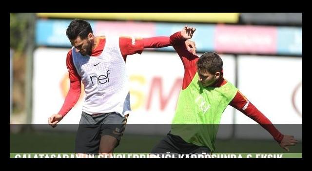 Galatasaray'ın Gençlerbirliği kadrosunda 6 eksik
