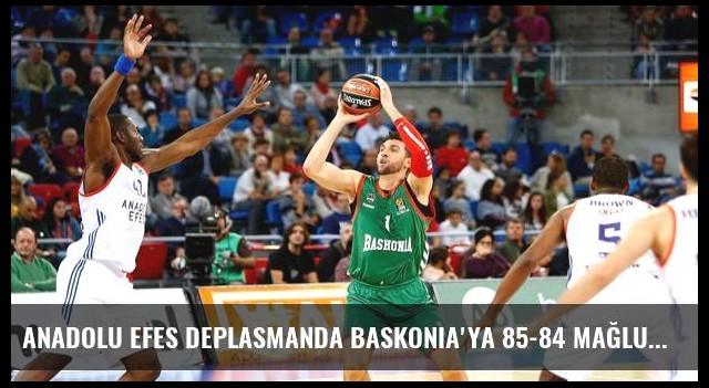 Anadolu Efes Deplasmanda Baskonia'ya 85-84 Mağlup Oldu