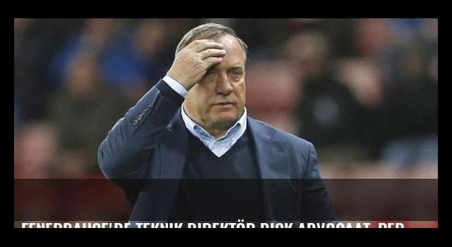 Fenerbahçe'de teknik direktör Dick Advocaat, Pereira'nın gerisinde kaldı