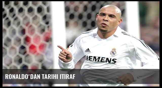 Ronaldo'dan tarihi itiraf