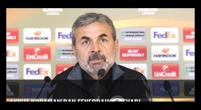 Aykut Kocaman'dan Fenerbahçe cevabı