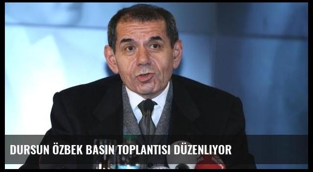 Dursun Özbek basın toplantısı düzenliyor
