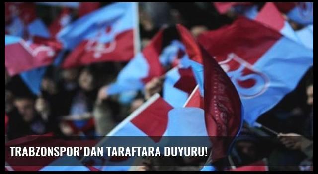 Trabzonspor'dan taraftara duyuru!