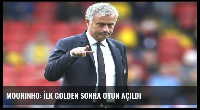 Mourinho: İlk golden sonra oyun açıldı
