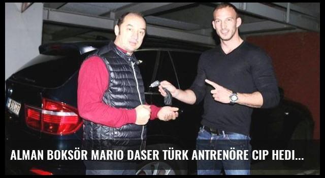 Alman boksör Mario Daser Türk antrenöre cip hediye etti