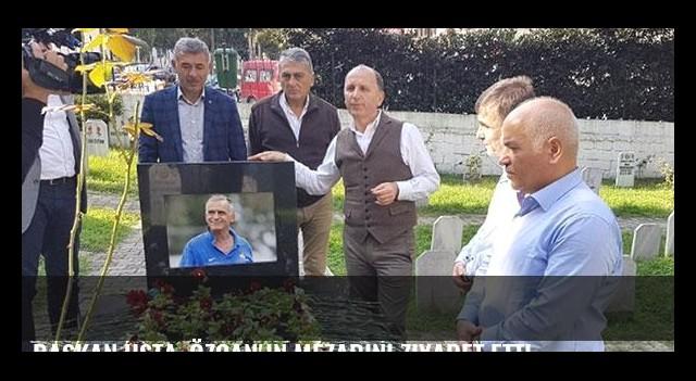 Başkan Usta, Özcan'ın mezarını ziyaret etti
