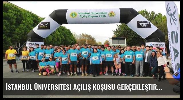 İstanbul Üniversitesi açılış koşusu gerçekleştirildi