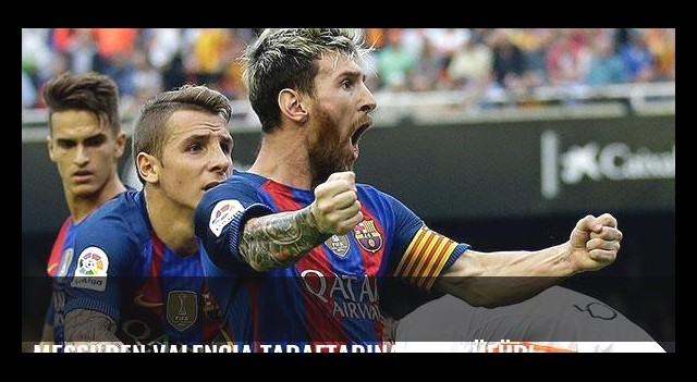 Messi'den Valencia taraftarına şok küfür!
