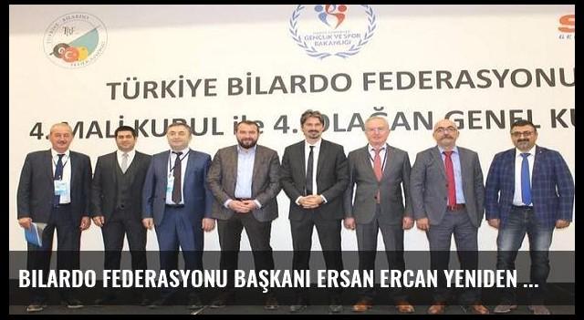 Bilardo Federasyonu Başkanı Ersan Ercan yeniden seçildi