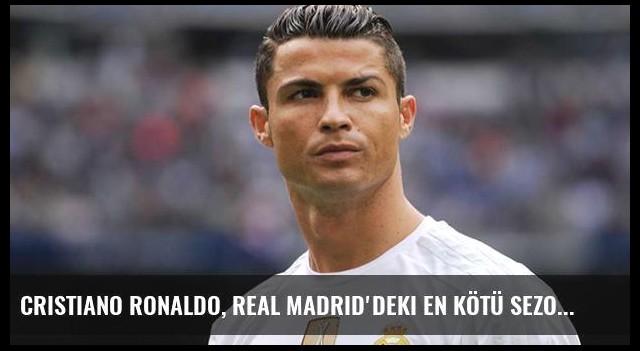 Cristiano Ronaldo, Real Madrid'deki En Kötü Sezon Başlangıcını Yaptı