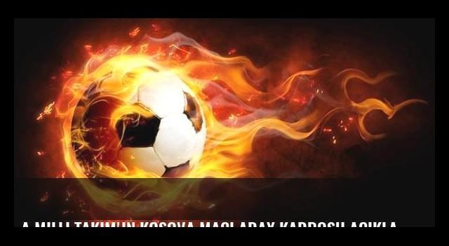 A Milli Takım'ın Kosova maçı aday kadrosu açıklandı!