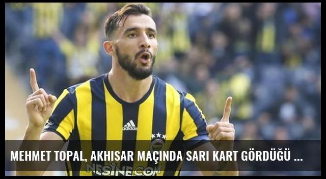 Mehmet Topal, Akhisar Maçında Sarı Kart Gördüğü İçin Galatasaray Maçında Yok