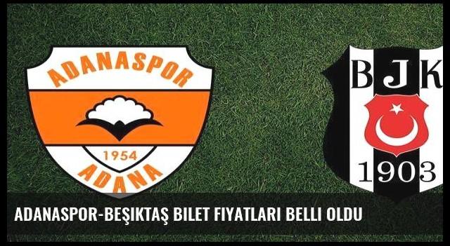 Adanaspor-Beşiktaş bilet fiyatları belli oldu