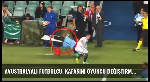 Avustralyalı Futbolcu, Kafasını Oyuncu Değiştirme Tabelasına Çarptı