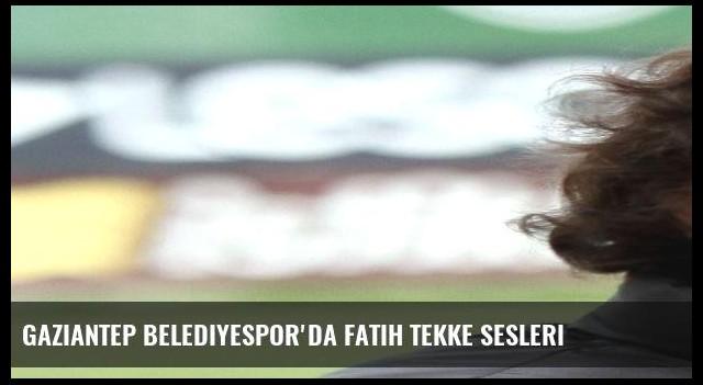 Gaziantep Belediyespor'da Fatih Tekke sesleri