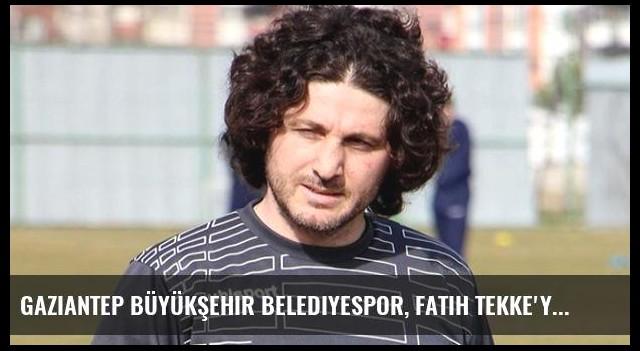 Gaziantep Büyükşehir Belediyespor, Fatih Tekke'yle Görüşüyor